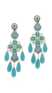 Miguel Ases, Long Quartz Chandelier Earrings, $440