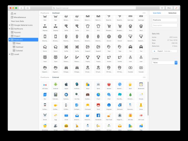 Nástroj IconJar slouží pro organizaci ikon