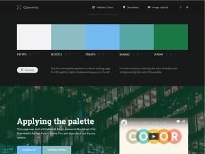 Nástroj nabízí možnosti pro generování barevných palet.
