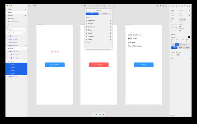 Plugin pro generování dat v Invision Studio