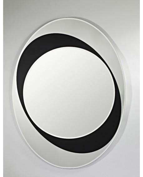 Miroir Oval Contemporain Sphere Naturel 83x110 Cm