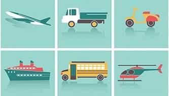 Транспорт и Путешествия-Бесплатные векторные исходники
