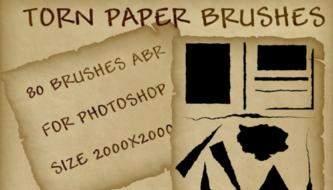Креативные и полезные бумажные кисти для фотошоп