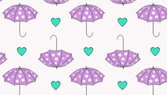 Подборка милых паттернов на тему Зонтики