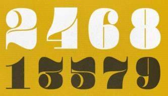 Подборка Креативных шрифтов для числовой типографии