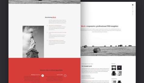 Марк PSD личный веб-шаблон Adobe Photoshop
