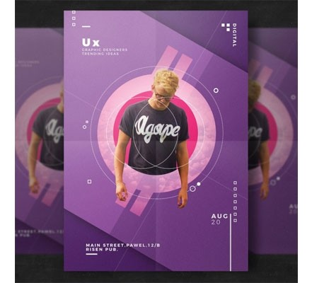 Creative event flyer template Free Psd