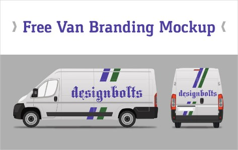 Free Van Vehicle Брендинг Макет PSD