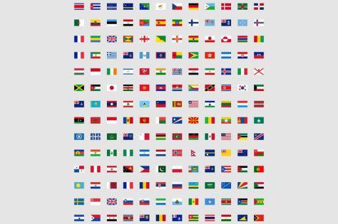 бесплатно 244 плоский набор иконок флаг мира баннер страны нации png