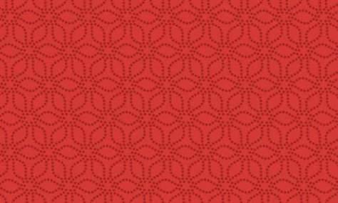 Современный цветочный красный узор
