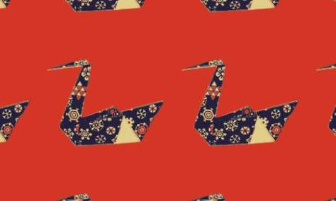 красный оригами