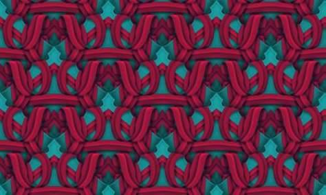 Переплетенный красный узор