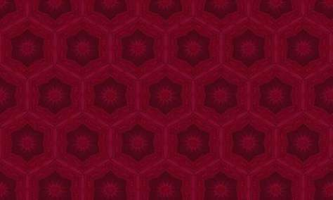 Холлихок красный узор
