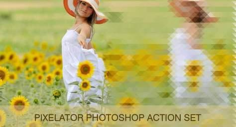 Pixelate спецэффекты бесплатные действия фотошоп