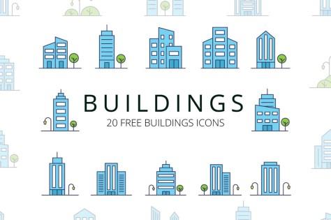 Бесплатные Векторные иконки зданий