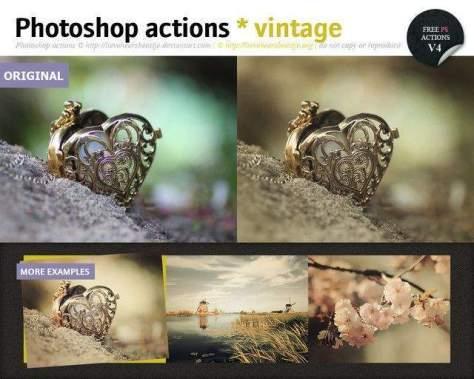 Photoshop винтажные акции