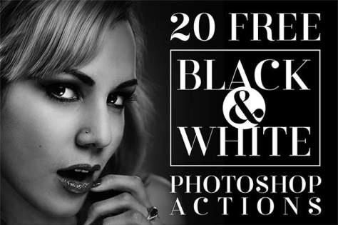 Черно-белые действия Photoshop