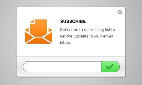 Clean Email Newsletter Форма подписки PSD