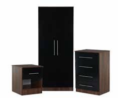 Vancouver Wardrobe, Chest of Drawers and Bedside Cabinet