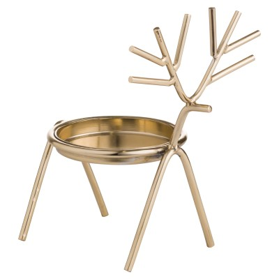 Gold Stick Reindeer Candle Holder
