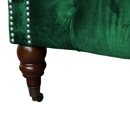 Emerald Velvet Chesterfield Three Seater Sofa