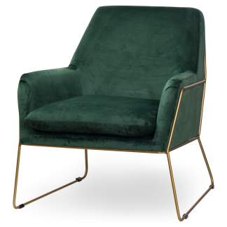 Kariss Framed Emerald Green Velvet Club Chair