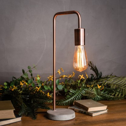 Marble And Brass Industrial Desk Lamp
