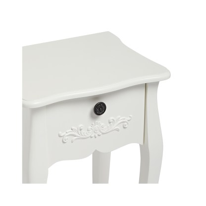 ANTOINETTE 1 DRAWER NIGHT STAND WHITE