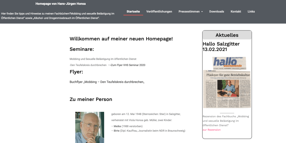 Referenz Hans-Jürgen-Honsa Website