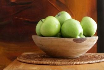 0014-VNT-vintage-wooden-bowl