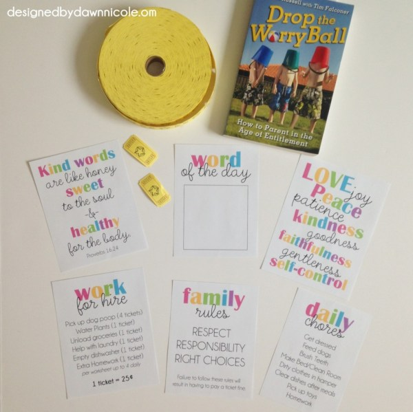 Respect, Responsibility, Right Choices DIY Chore & Behavior System with Free Printables!