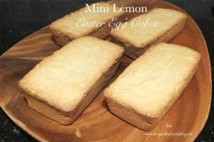 Mini Lemon Easter Egg Cakes 14
