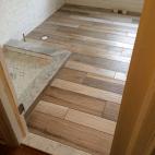 Bathroom Renovation Design Interior Design Wood Look Tile Carrara Marble White Subway Bath