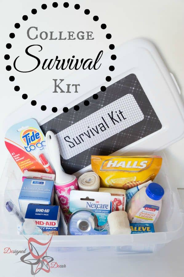 College Survival Kit - DIY Emergency Kit-pinnable