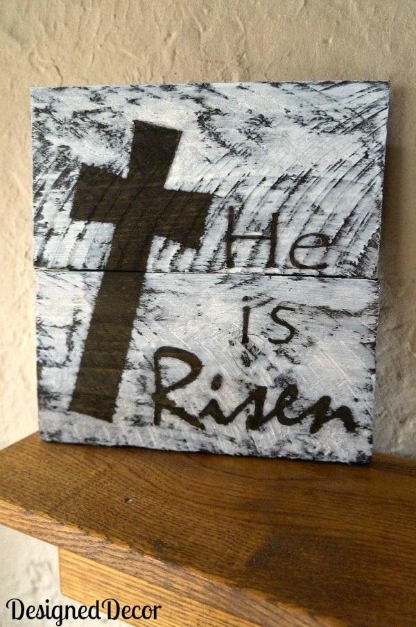 He is Risen Wood Plaque