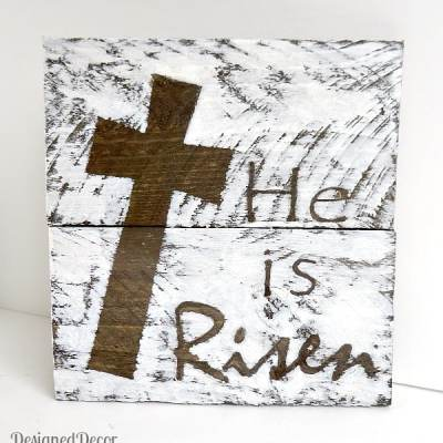 """He is Risen"" Wood Plaque"