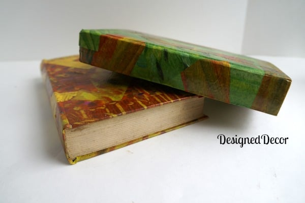 paper decoupage old books