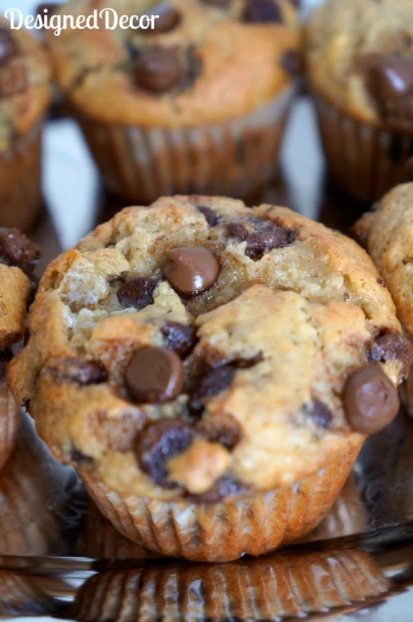 Chocolate Chip Banana Muffins 034