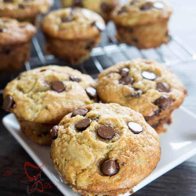 Chocholate Chip Banana Muffins- Super Mosit Muffins