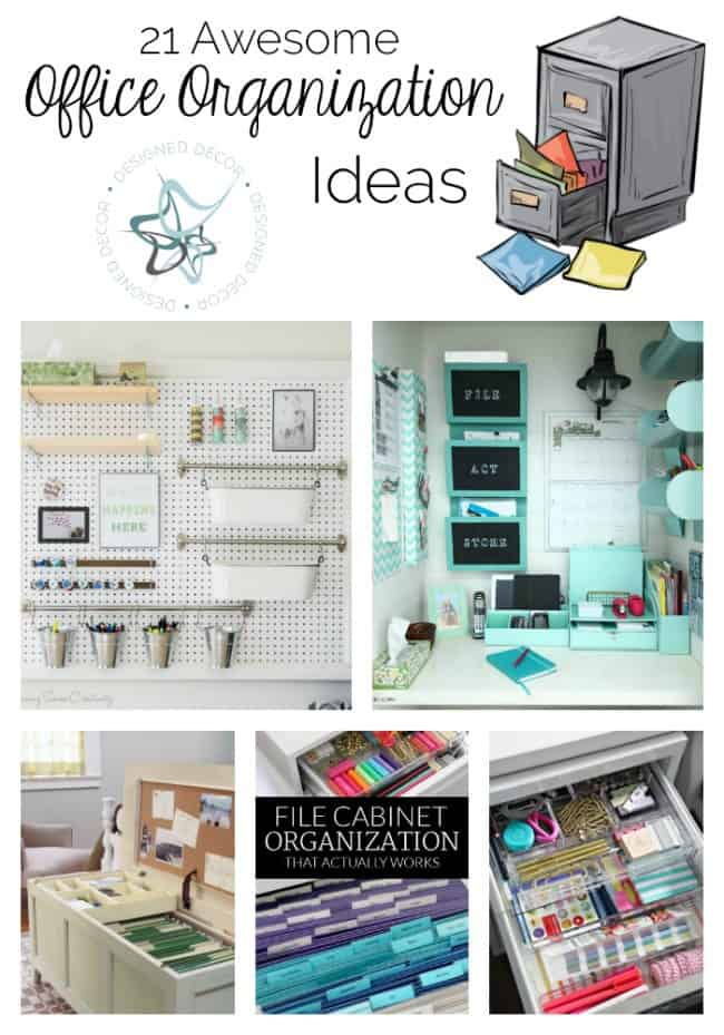 Home Office Organizing Ideas To 21 Awesome Office Organization Ideas Designed Decor