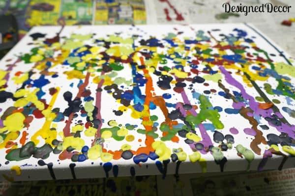 crayon art - melted crayon