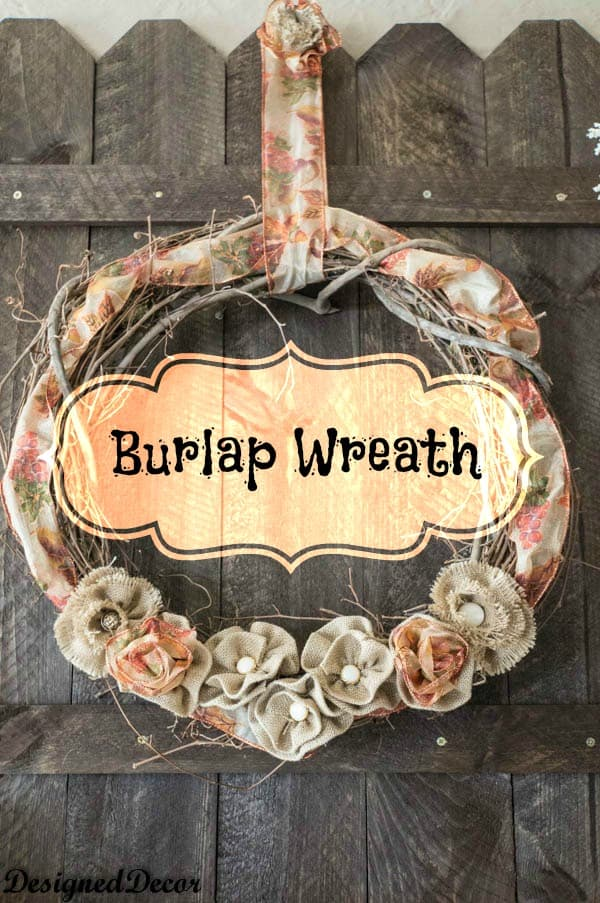 Burlap Wreath- How to make burlap flowers