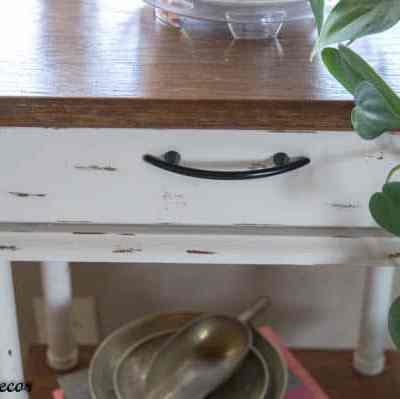 Repurposed Phone Table