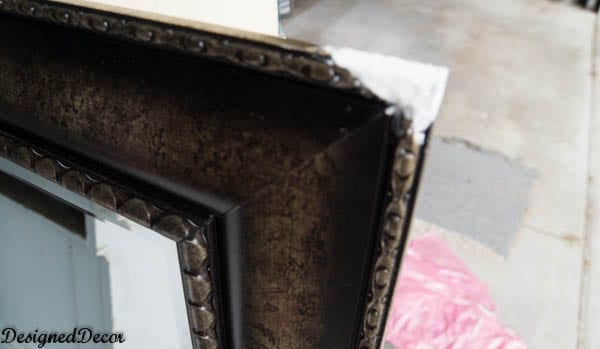 repairing a mirror with smooth finish