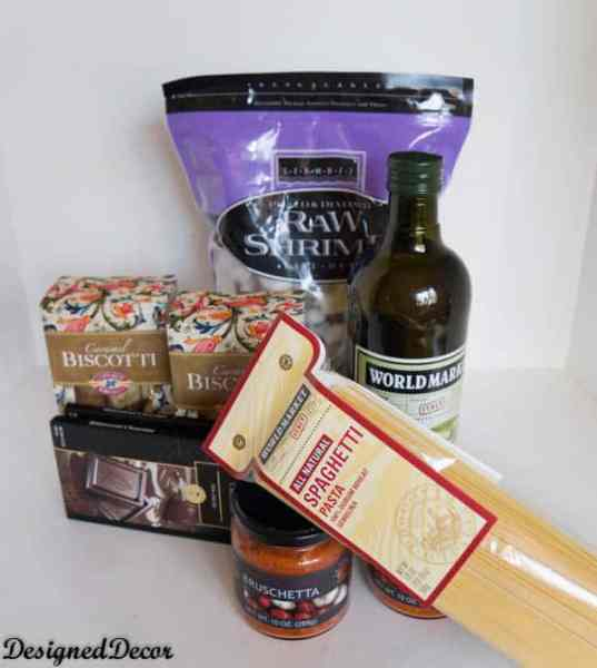 World Market Italian Products for shrimp bruschetta pasta