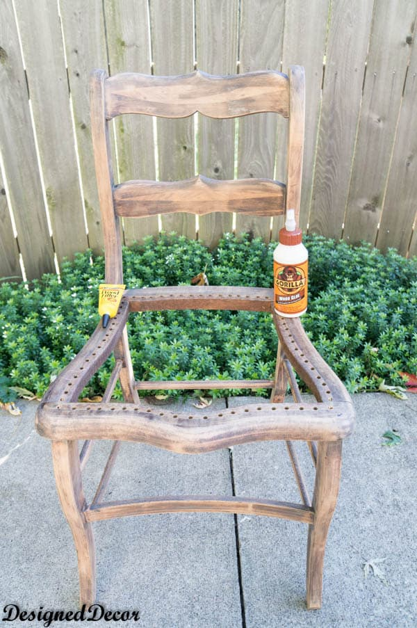 fixing Wood accent Chairs