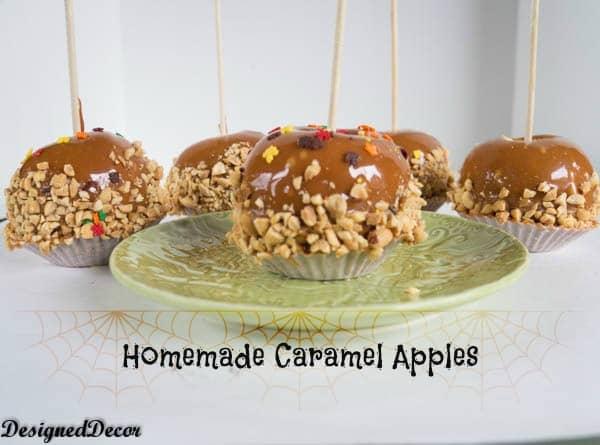 homemade caramel apples-www.designeddecor
