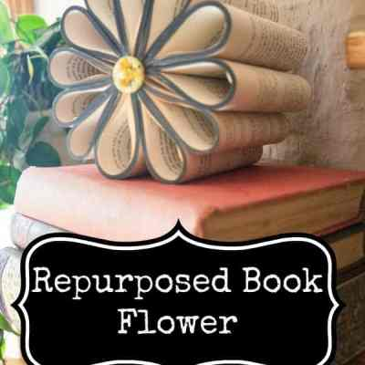 DIY Repurposed Book Flower!