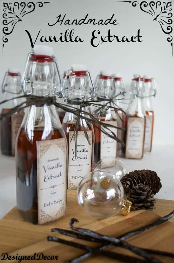 Easy Homemade Vanilla Extract! ~- Designed Decor