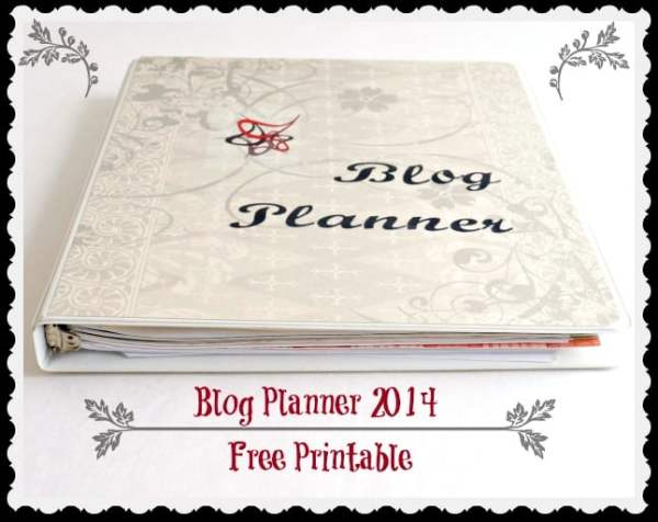 2014 Blog Planner printable
